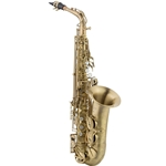 "LA Sax LAXVCHSD Big Lip ""V"" Series Saxophones feature an engraved body, pearl like finger button"