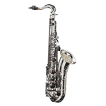 "LAX-308SBR-Big Lip ""X"" Tenor Saxophone–Silver/Black"