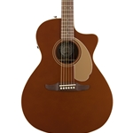 Fender Newporter Player Acoustic Electric Guitar Rustic Copper
