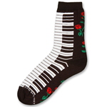 142036 Women's Keyboard Rose Socks OSFA