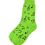 10016 Socks Neon Green Ladies 9-11