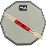 "Stagg TD-08RP 8"" Practice Pad & Pair of 5A Sticks"