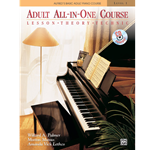 Alfred's Basic Piano Library Adult All In One Book 1 /CD