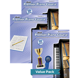 Alfred's Premier Piano Course Lesson Theory & Performance 3 Value Pack
