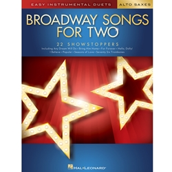 Broadway Songs for Two Alto Sax Asx