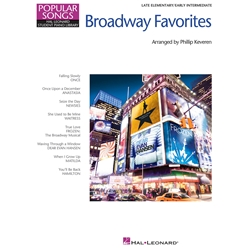 Broadway Favorites Late Elementary / Early Intermediate Popular Songs Series