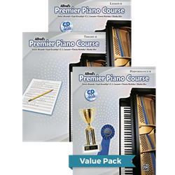 Alfred's Premier Piano Course Lesson Theory & Performance 6 Value Pack