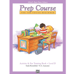 Alfred's Basic Piano Prep Course Activity & Ear Training Book D