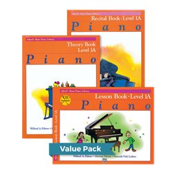 Alfred's Basic Piano Library Lesson Theory Recital 1A Value Pack