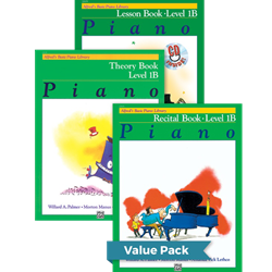 Alfred's Basic Piano Library Lesson Theory Recital 1B Value Pack