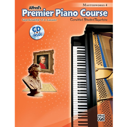 Alfred's Premier Piano Course -- Masterworks 4 /CD