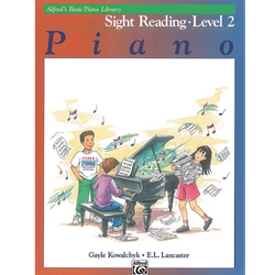 Alfred's Basic Piano Library Sight Reading Book 2