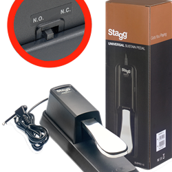 Stagg, SUSPED10, Sustain Pedal 2/switch