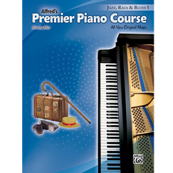 Alfred's Premier Piano Course -- Jazz, Rags & Blues, Book 5