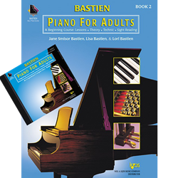 Bastien Piano For Adults, Book 2 (Book & 2-CD)