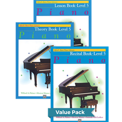 Alfred's Basic Piano Library Lesson Theory Recital 5 Value Pack
