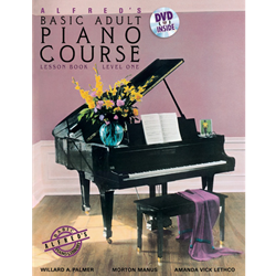 Alfred's Basic Adult Piano Course: Lesson Book 1 /DVD
