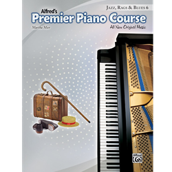 Alfred's Premier Piano Course -- Jazz, Rags & Blues, Book 6
