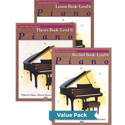 Alfred's Basic Piano Library Lesson Theory Recital 6 Value Pack
