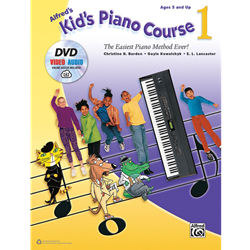 Alfred's Kid's Piano Course, Book 1 W/DVD