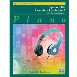 Alfred's Basic Piano Library Popular Hits Complete, Book 2 & 3