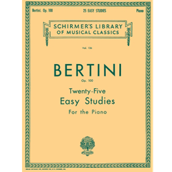 25 Easy Studies, Op. 100: Schirmer Library of Classics Volume 136