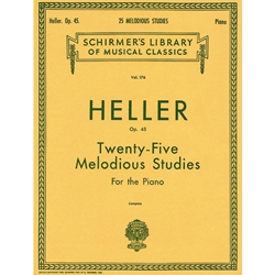 25 Melodious Studies OP 45:(Complete) Schirmer Library of Music Volume 175