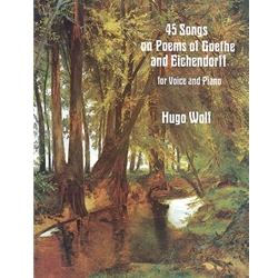 45 Songs on Poems of Goethe and Eichendorff for Voice and Piano Voice